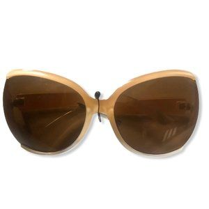 Oversized Taupe and White Ombre Sunglasses NWT